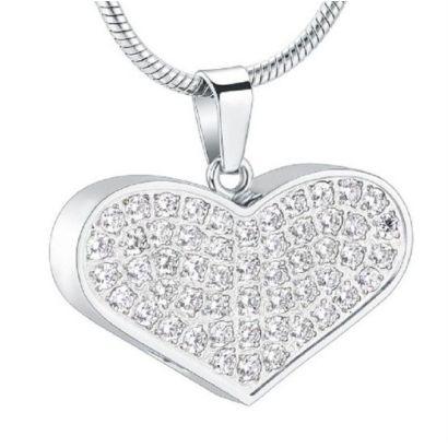Náhrdelník - pamětní přívěsek, pietní přívěsek, přívěsek na popel srdce