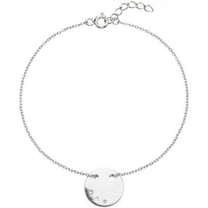Stříbrný náramek s krystaly Swarovski bílý 33100.1