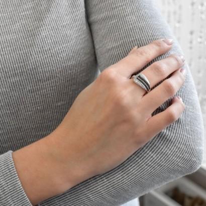 Sada šperků bižuterie náušnice, přívěsek a prsten 79027.1