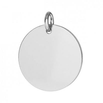 Stříbrný přívěsek destička kulatá 16,5 mm