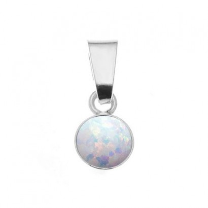 Stříbrný opálový přívěsek