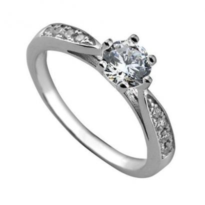 Stříbrný zásnubní prsten se zirkony ZB82723 (49)