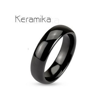Keramický prsten černý, šíře 6 mm (53)