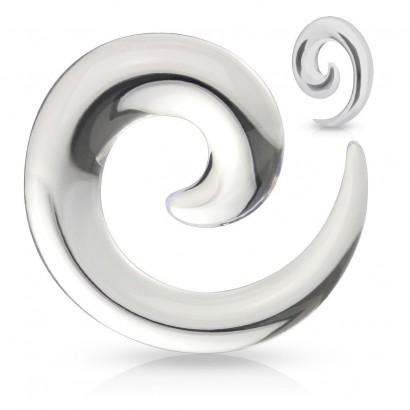 Roztahovák do ucha - spirála čirá (2 mm)