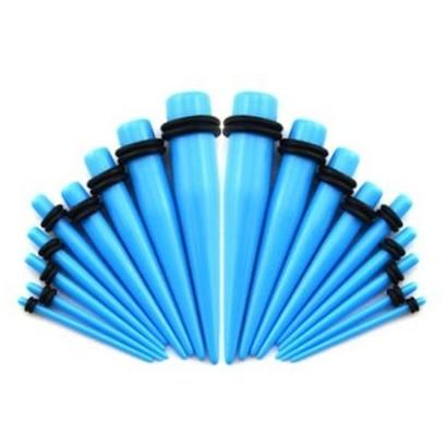 Akrylátový roztahovák do ucha světle modrý (1,6 mm)
