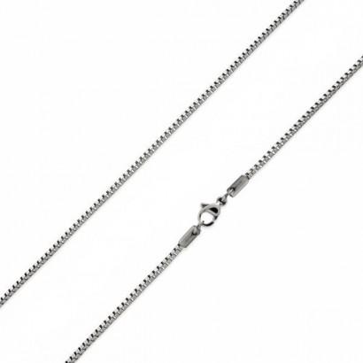 Ocelový řetízek čtvercový, tl. 1 mm (45 cm)