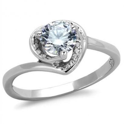 Stříbrný prsten se zirkony (2,75 g, 57)