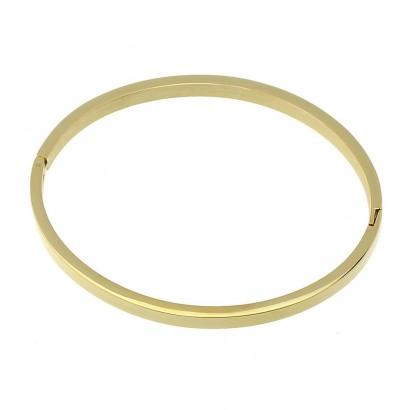 Ocelový náramek kruh otevírací, šíře 4 mm