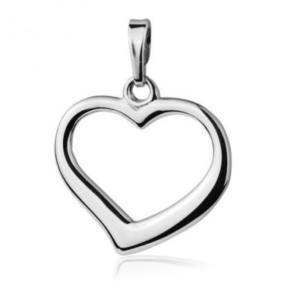 Stříbrný přívěsek srdce