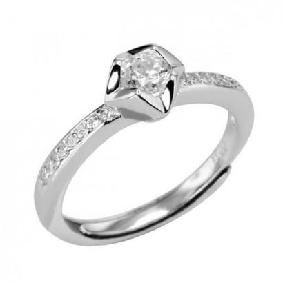 Prsten stříbrný SRJ61