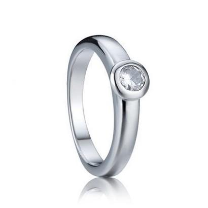 Zásnubní ocelový prsten se zirkonem (48)