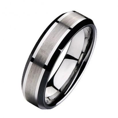 Wolframový prsten, šíře 7 mm (48)