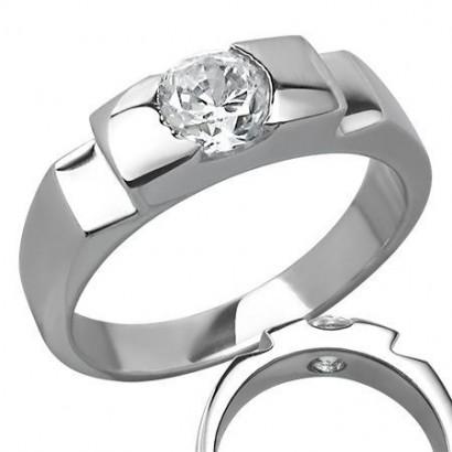Prsten chirurgická ocel s kamínkem LZRC028