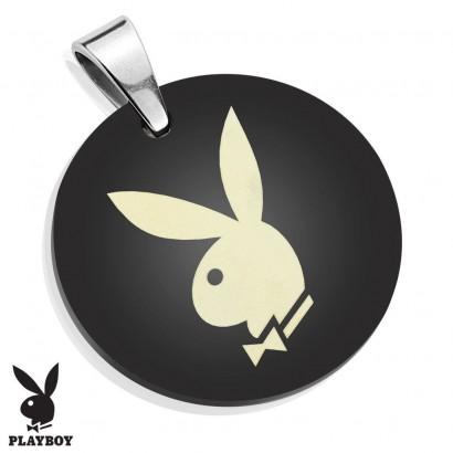 Kulatý ocelový přívěsek Playboy