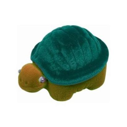 Dárková krabička semiš - želva zelená/hnědá