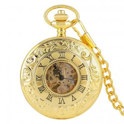 Zlacené kapesní hodinky