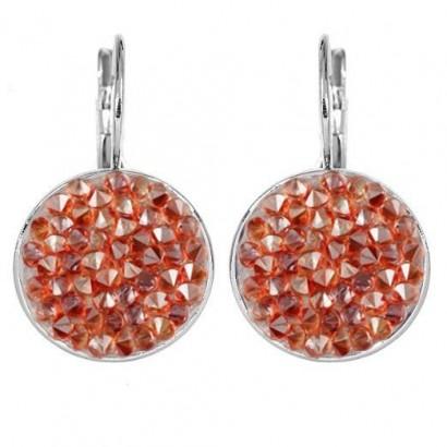Náušnice s krystaly Crystals from Swarovski® RED MAGMA