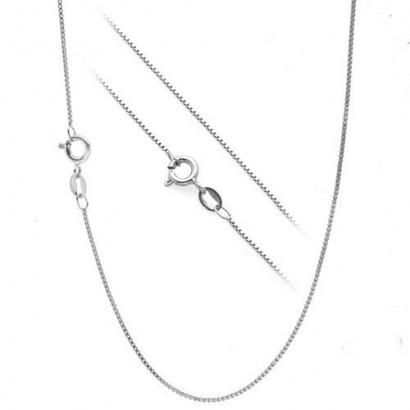 Stříbrný řetízek - čtvercový, tl. 0,65 mm, délka 40 cm