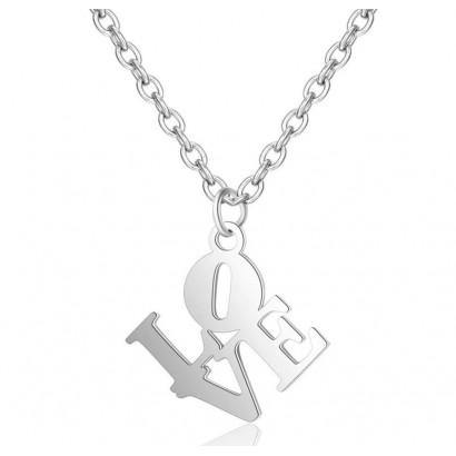 Ocelový náhrdelník LOVE