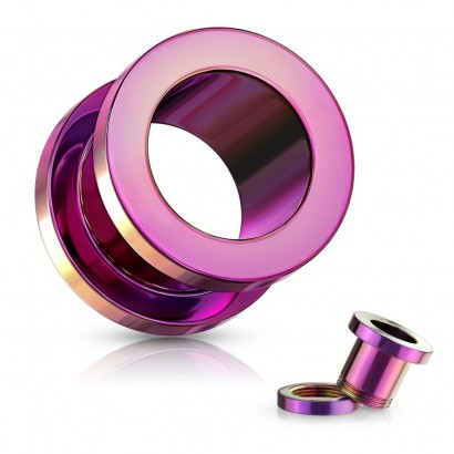 Šroubovací tunel do ucha fialový, průměr 2,4 mm