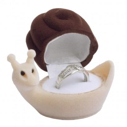 Dárková krabička na prsten - šnek