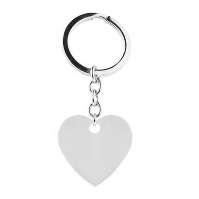 Ocelový přívěsek na klíče - srdce