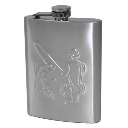 Ocelová kapesní lahev rybář - placatka 220ml