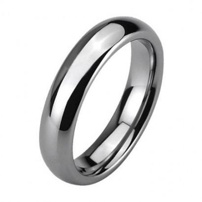 Wolframový prsten, šíře 4 mm (61)