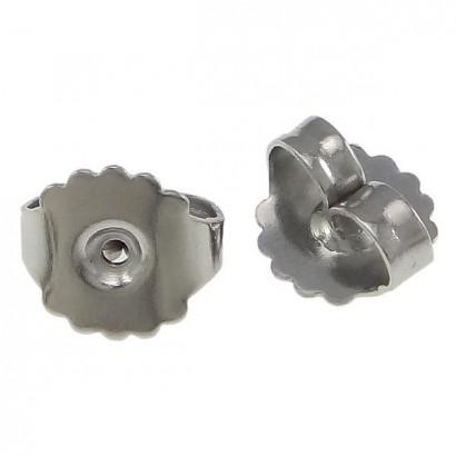 Náušnicový puzetový uzávěr ocelový - 1 kus