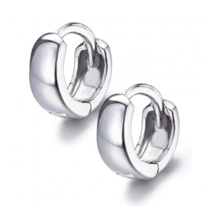 Stříbrné náušnice kroužky překřížené