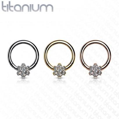 Segment kruh - septum piercing TITAN (lesklý titan)