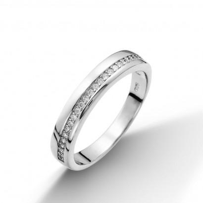 Stříbrný prsten se zirkony (2,51 g, 53)