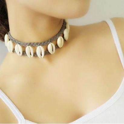 Přírodní náhrdelník z kauri mušliček