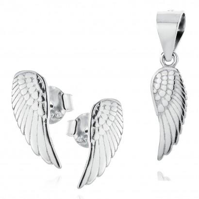 Stříbrná souprava šperků - andělská křídla