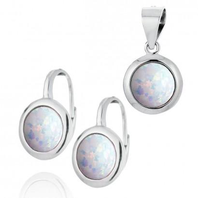 Stříbrná souprava šperků s opálem