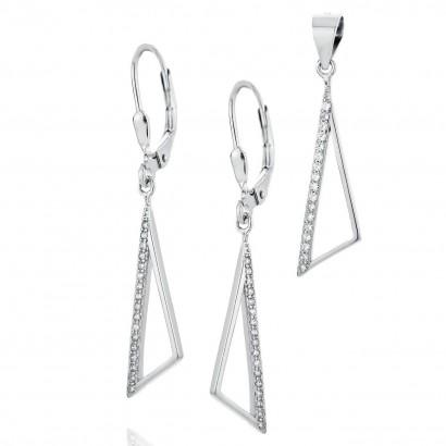 Stříbrná souprava šperků