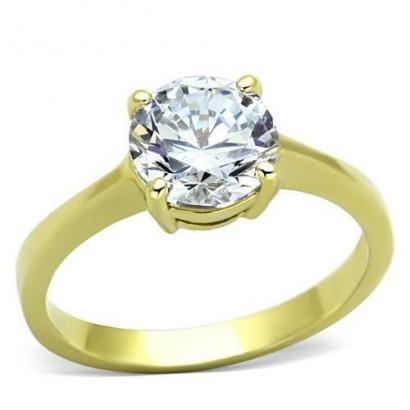 Ocelový prsten se zirkonem (49)