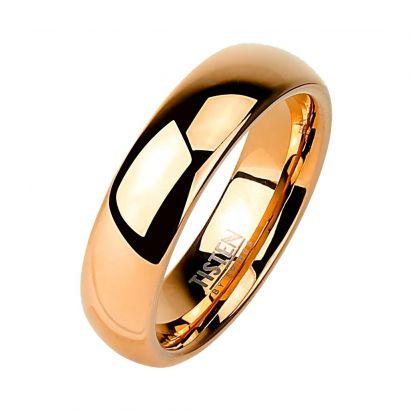 Tistenový prsten zlacený, šíře 4 mm