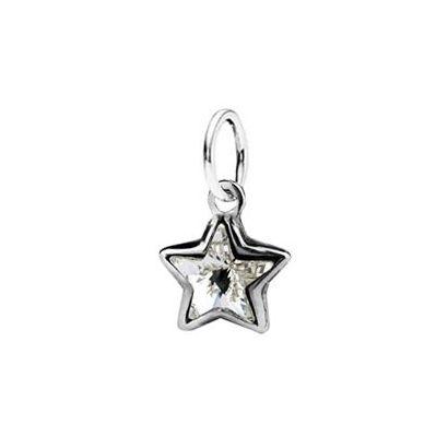 Stříbrný přívěsek hvězda SWAROVSKI® el., Crystal