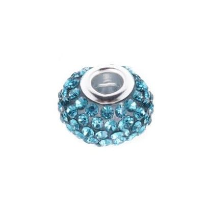 Pavé přívěsek - korálek s TURQUISE krystaly